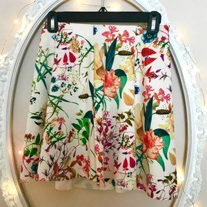 Bershka floral mini skirt